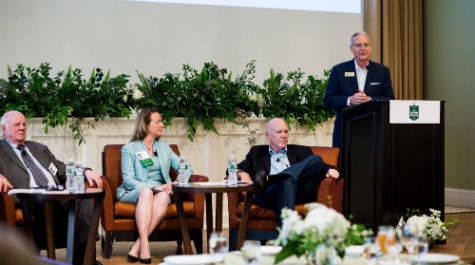 Alumni panelists shared perspectives on building an ethical business culture from the top.
