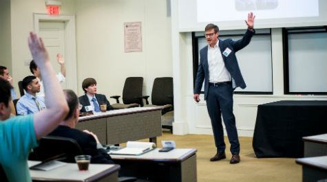 Organizational Behavior Professor David Long discussed his research on impression management